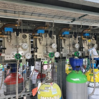Gas distribution system at chemical company