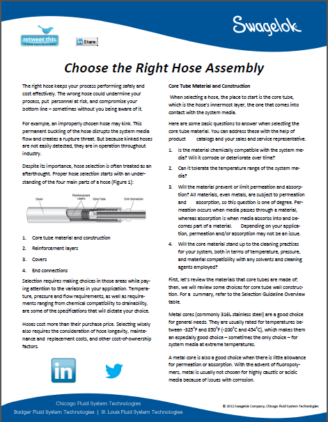 Choosing the Right Hose Assembly