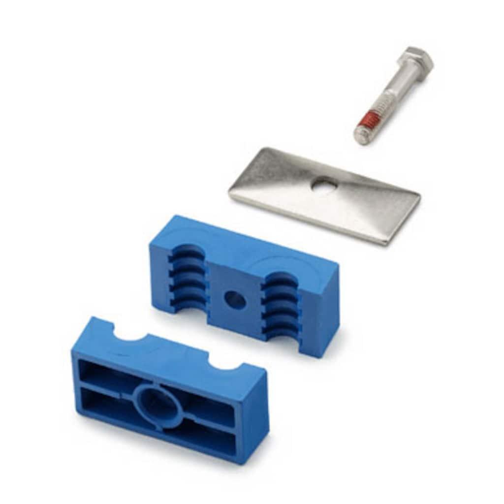 サポート・システム — ツイン・ボルト付きプラスチック製クランプ・チューブサポート