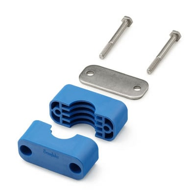 Bolted Plastic Clamp Pipe Support Kit, 1 1/2 in. Pipe Size ...