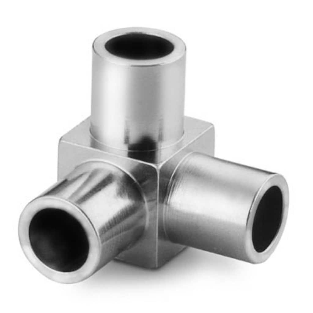 Schweißfittings — Hochreine Micro-Fit, Rohrstumpfschweißfittings — Winkelschweißstück mit  Anschlüssen (T-Stück + Winkelstück)