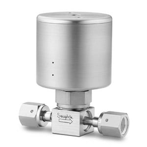 Diaphragm-Sealed Valves — Ultrahigh-Purity High-Pressure Diaphragm Valves, DPH Series — Straight Pattern, with Actuator