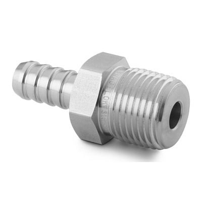 """Stainless Steel 1//2/"""" Male Pipe X 3//4/"""" Hose Barb Swagelok SS-12-HC-1-8"""