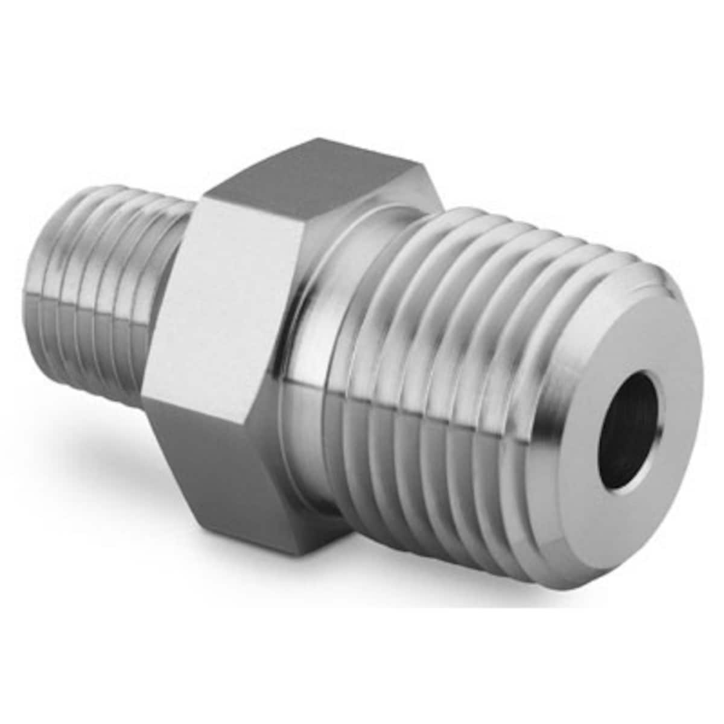 "ZORO SELECT 712-080XSGR 3//8/"" MNPT x 8/"" TBE Stainless Steel Pipe Nipple Sch 80"