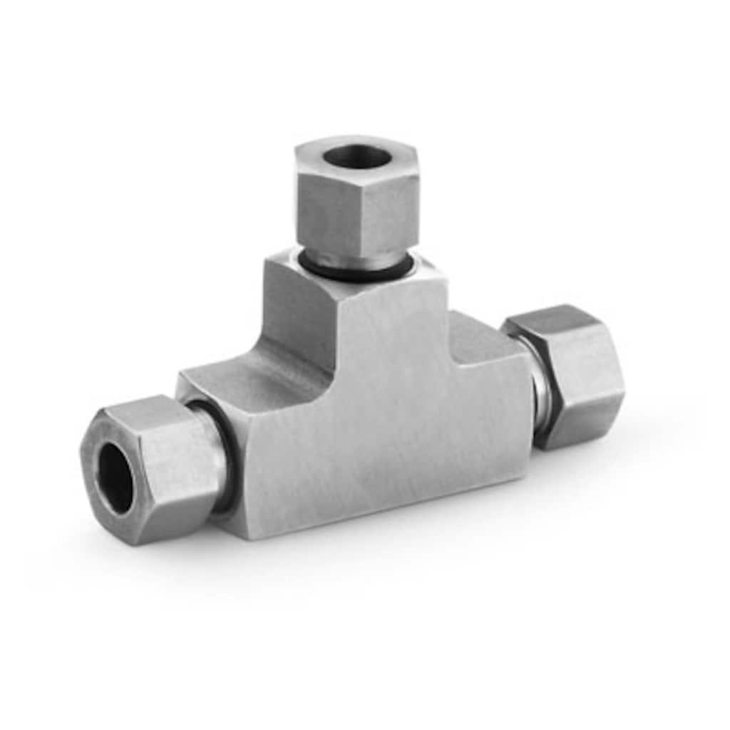 Rohrverschraubungen für mittleren Druck — Gerade Verschraubungen — T-Stücke
