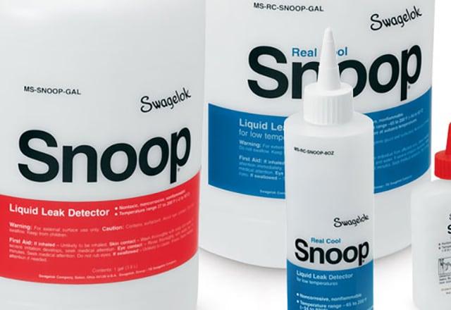 Жидкий течеискатель Snoop<sup>®</sup> и течеискатель Real Cool Snoop