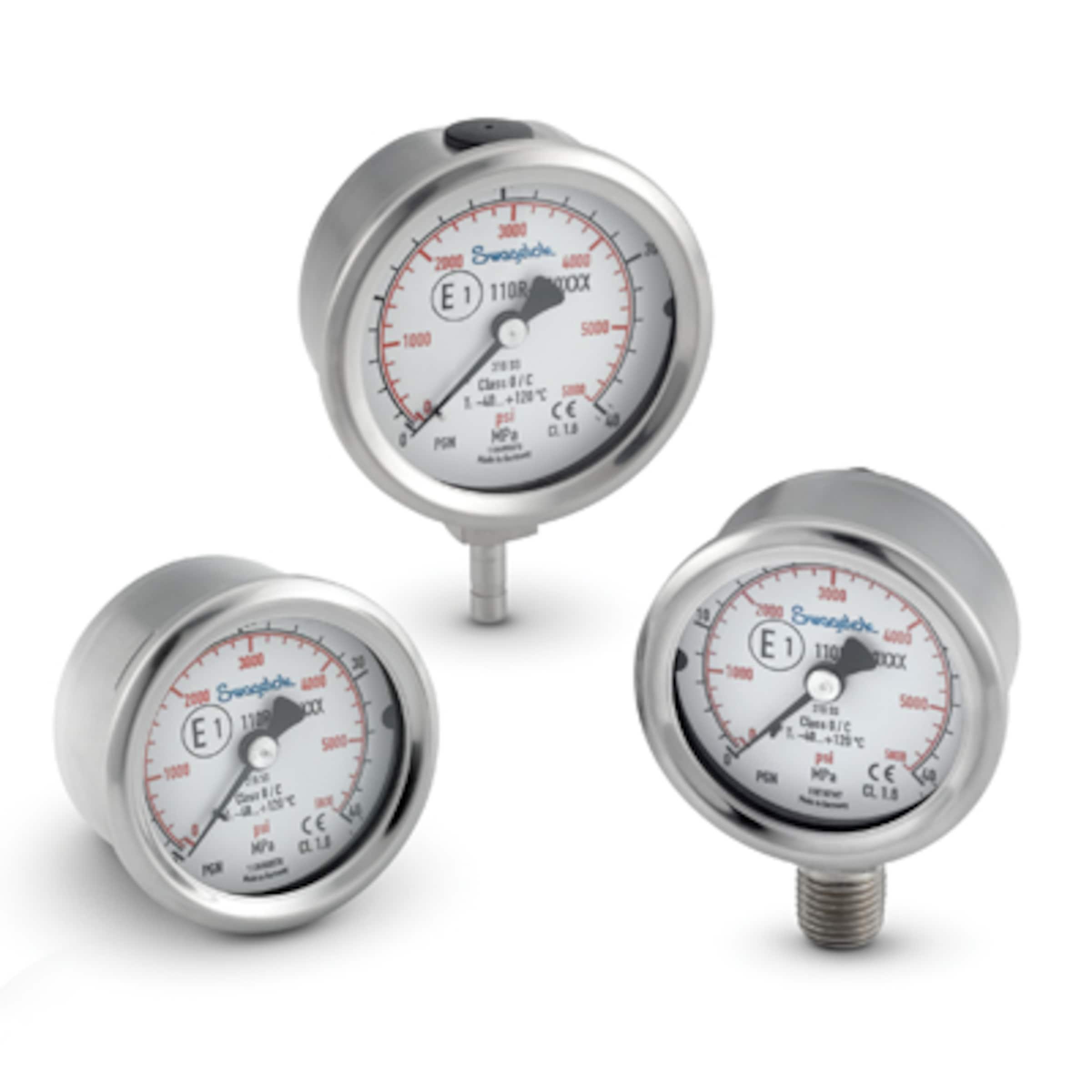 Pressure Gauges, General Purpose Gauge with ECE R110 Approval, PGN Series