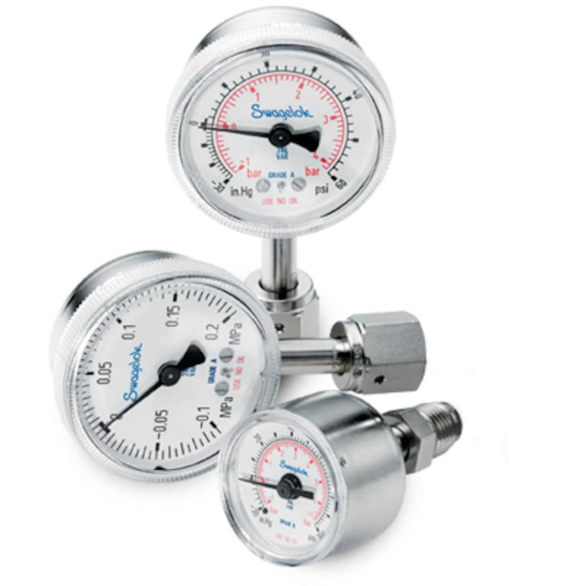 Pressure Gauges, Ultrahigh-Purity and Clean Dry Air